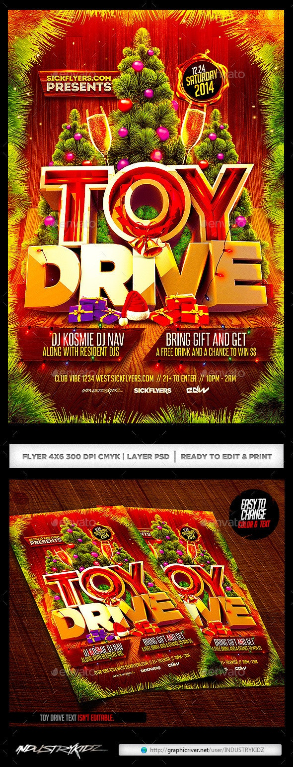 Toy Drive Flyer V2 - Holidays Events