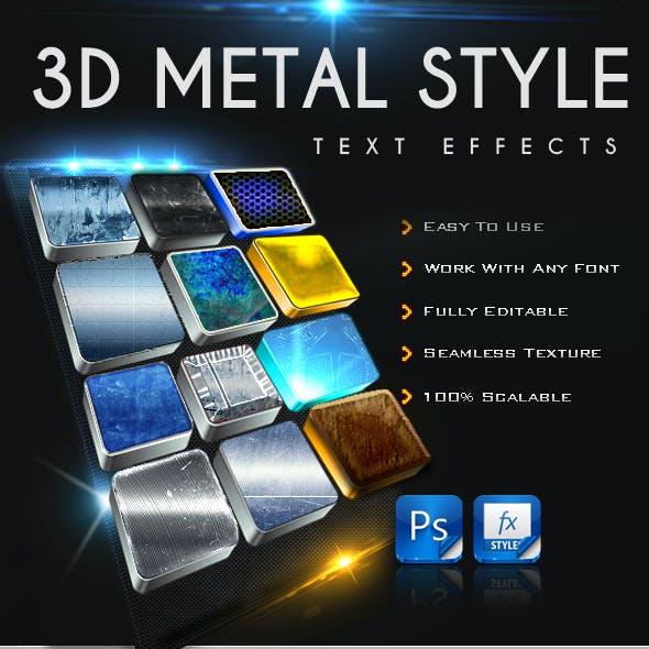12 3D Metal Text Effect