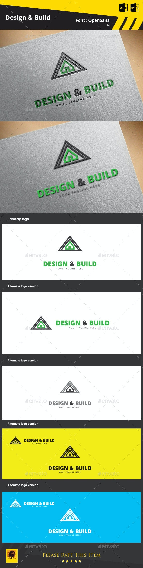 Design & Build Logo Template