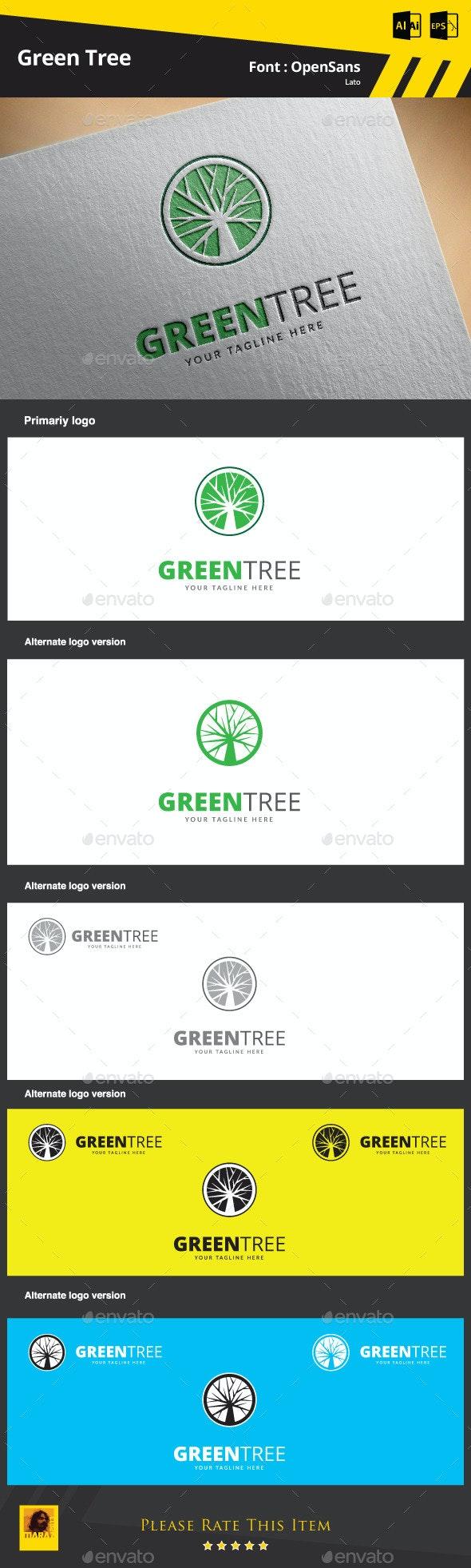 Green Tree Logo Template - Symbols Logo Templates