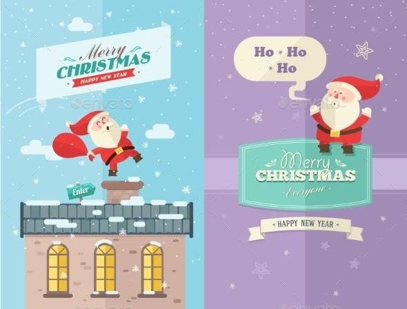 Merry christmas and happy new year card - Christmas Seasons/Holidays