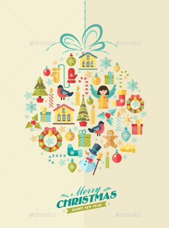 Merry christmas. vector winter set of elements - Christmas Seasons/Holidays