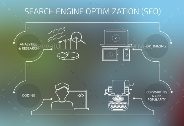 Infographic Concept Illustration of SEO - Concepts Business