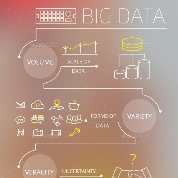 Infographic Contour Illustration of Big Data