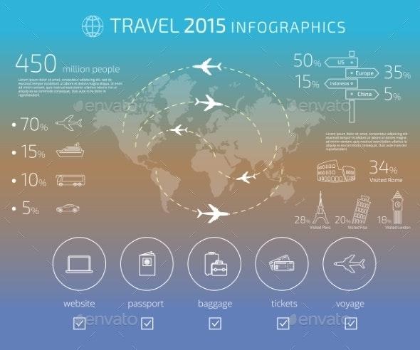Travel Infographic - Travel Conceptual