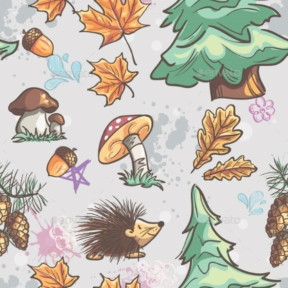 Forest Pattern - Seasons Nature