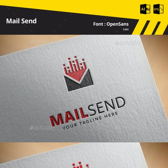 Mail Send Logo Template