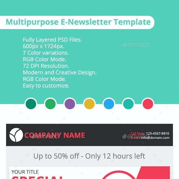 Multipurpose E-newsletter Template