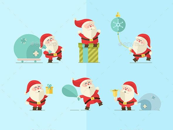 Santa set of characters - Christmas Seasons/Holidays