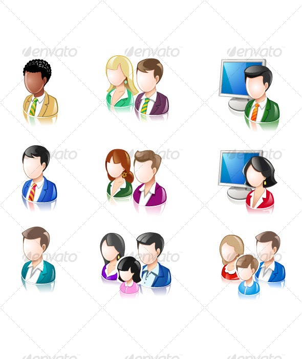 Various People Glossy IconSet 2 - People Characters