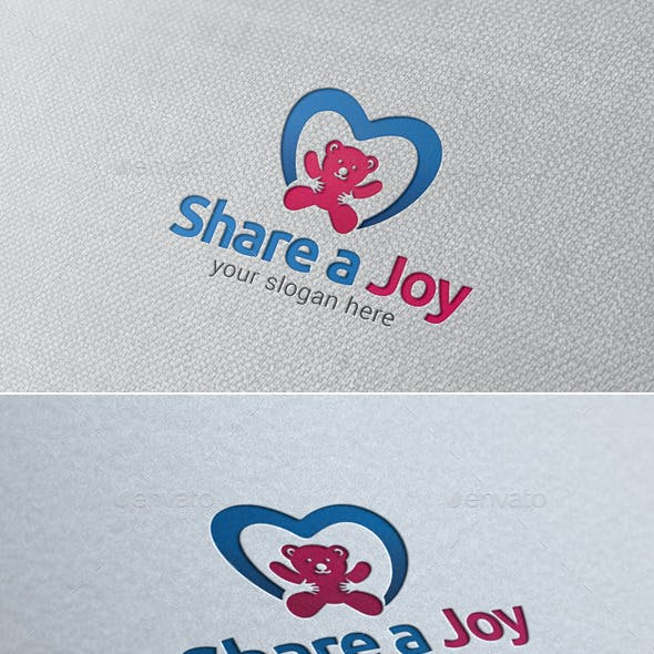 Share A Joy Logo Template