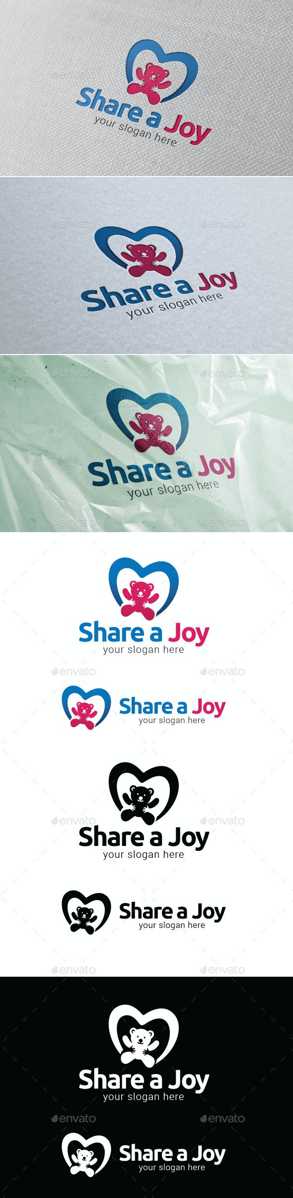 Share A Joy Logo Template - Objects Logo Templates