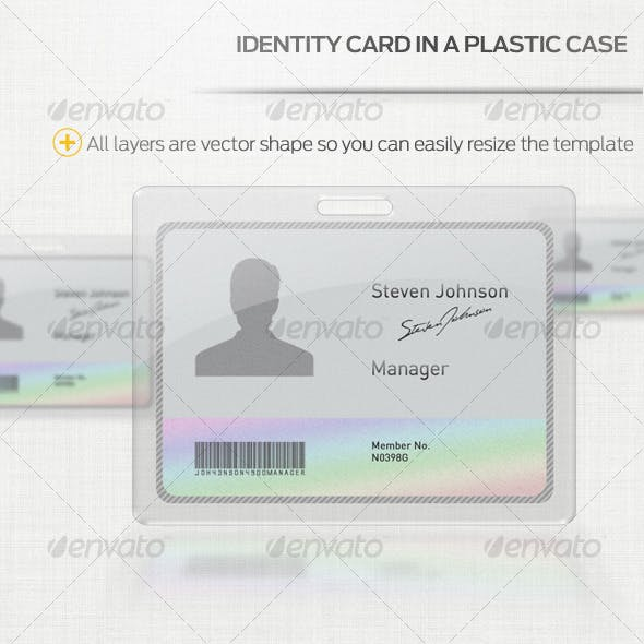 Identity Card with Plastic Case
