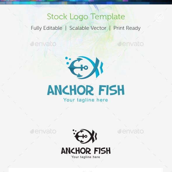 Anchor Fish Stock Logo Template
