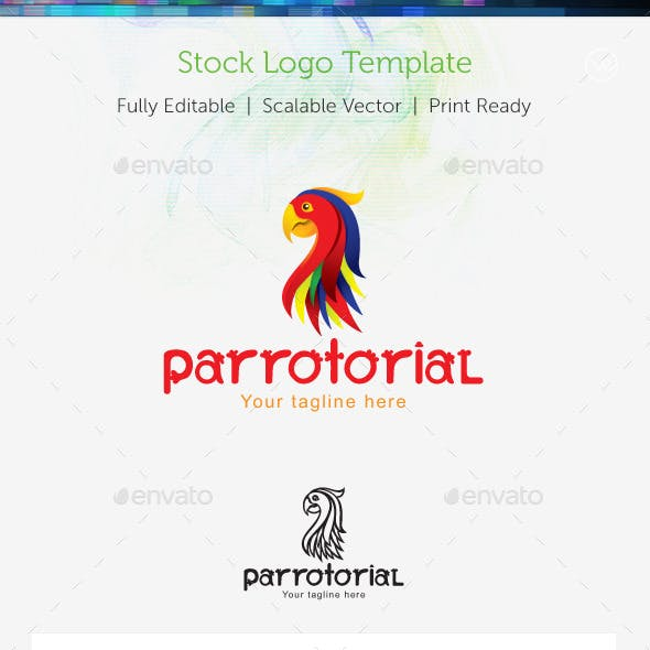 Parrotorial Stock Logo Template
