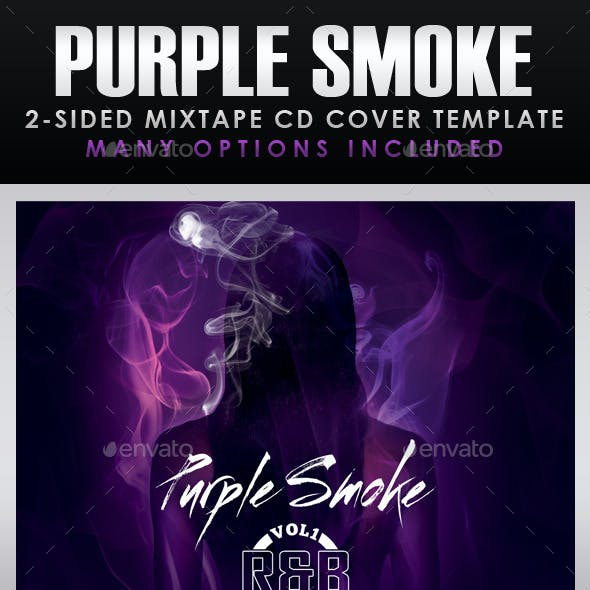 Purple Smoke Mixtape CD Cover Templates