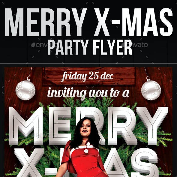 Merry X-Mas Party Flyer Template