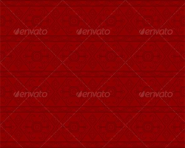 Red Geometric Pattern - Patterns Decorative