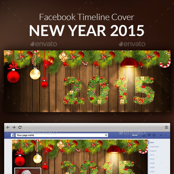 New Year 2015 Facebook Cover