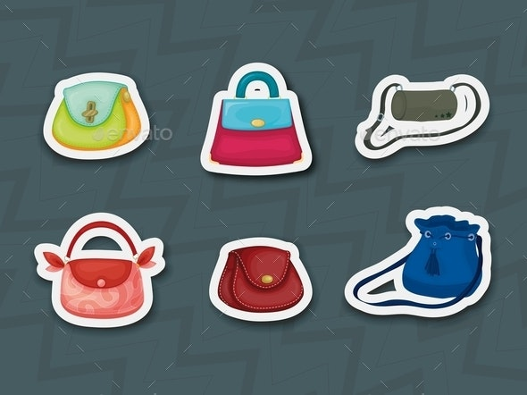 Handbag Stickers - Man-made Objects Objects