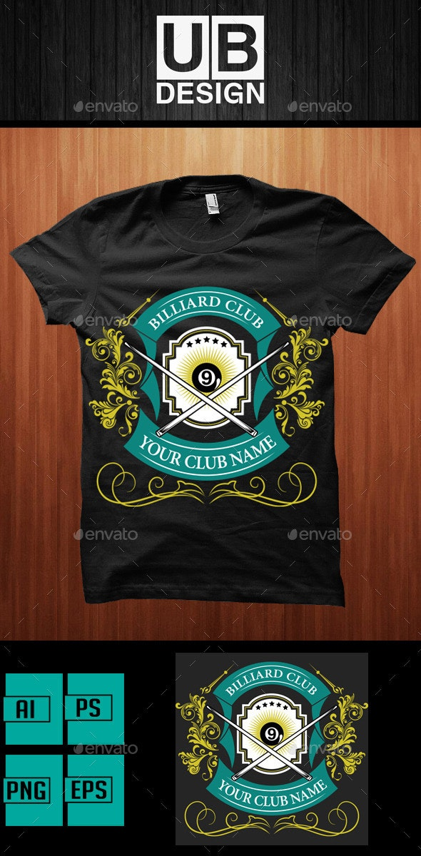 Shirt Design for Biliard Club