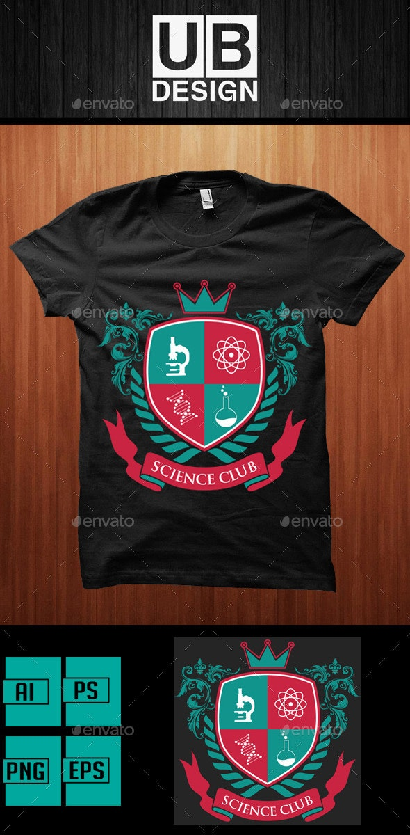 Academic Shirt Design for Science Club - Academic T-Shirts