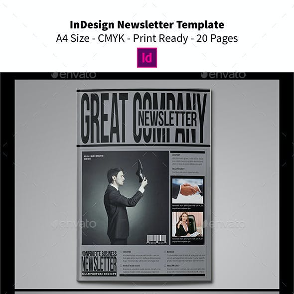 InDesign Newsletter Template 20 Pages
