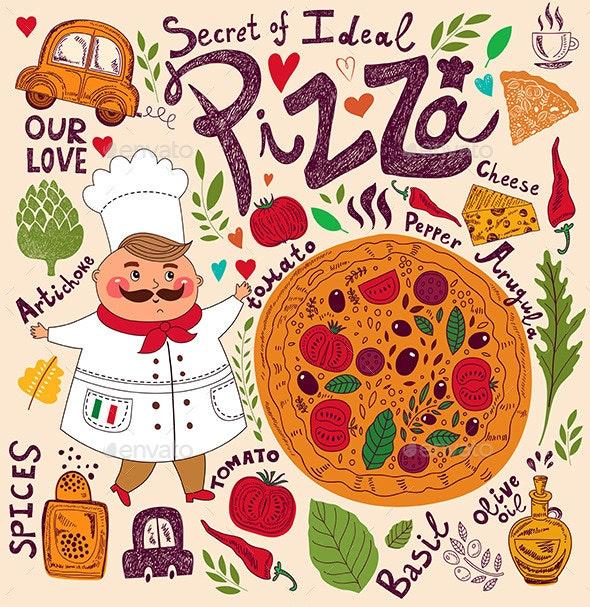 Pizza Menu - Food Objects