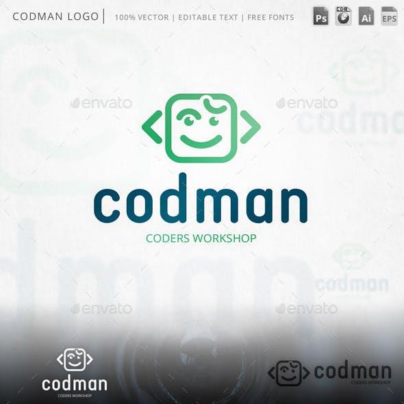 Codman Smiley Face Logo Template