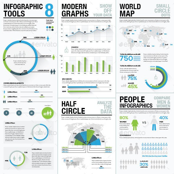 Infographic Tools 8 Business Elements Recolored