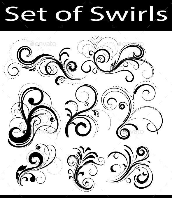 Set of Swirls - Vectors