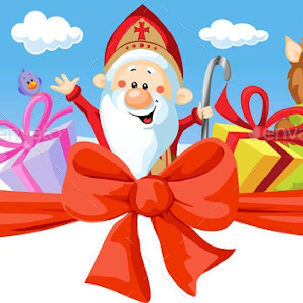 Saint Nicholas, Devil and Angel