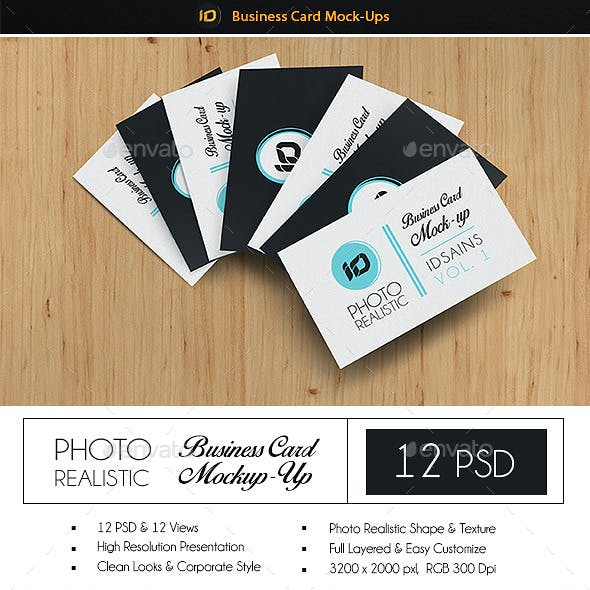 ID Business Card Mock-Up