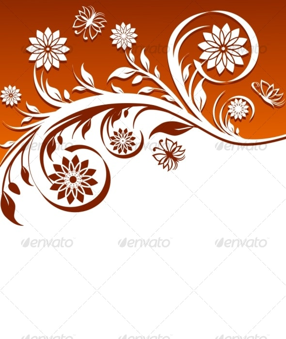 Floral ornament - Decorative Vectors