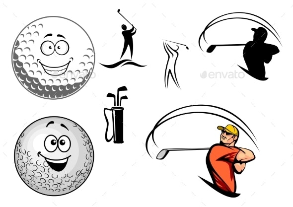 Golf Equipment and Players - Sports/Activity Conceptual