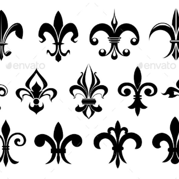 Fleur De Lys Vintage Design Elements