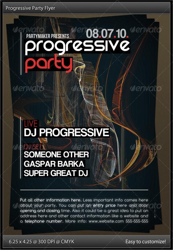 Progressive Party Flyer - Clubs & Parties Events