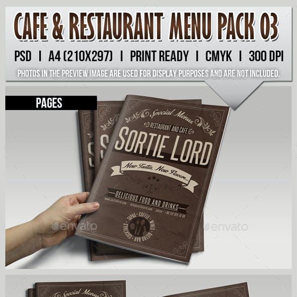 Cafe & Restaurant Menu Pack 03