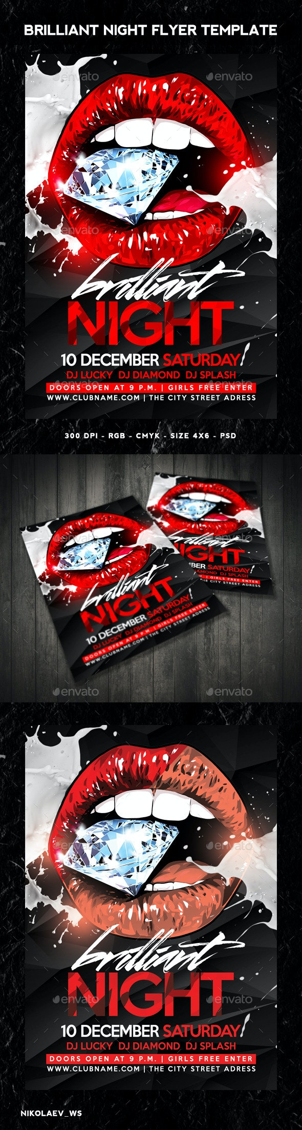 Night Flyer - Clubs & Parties Events