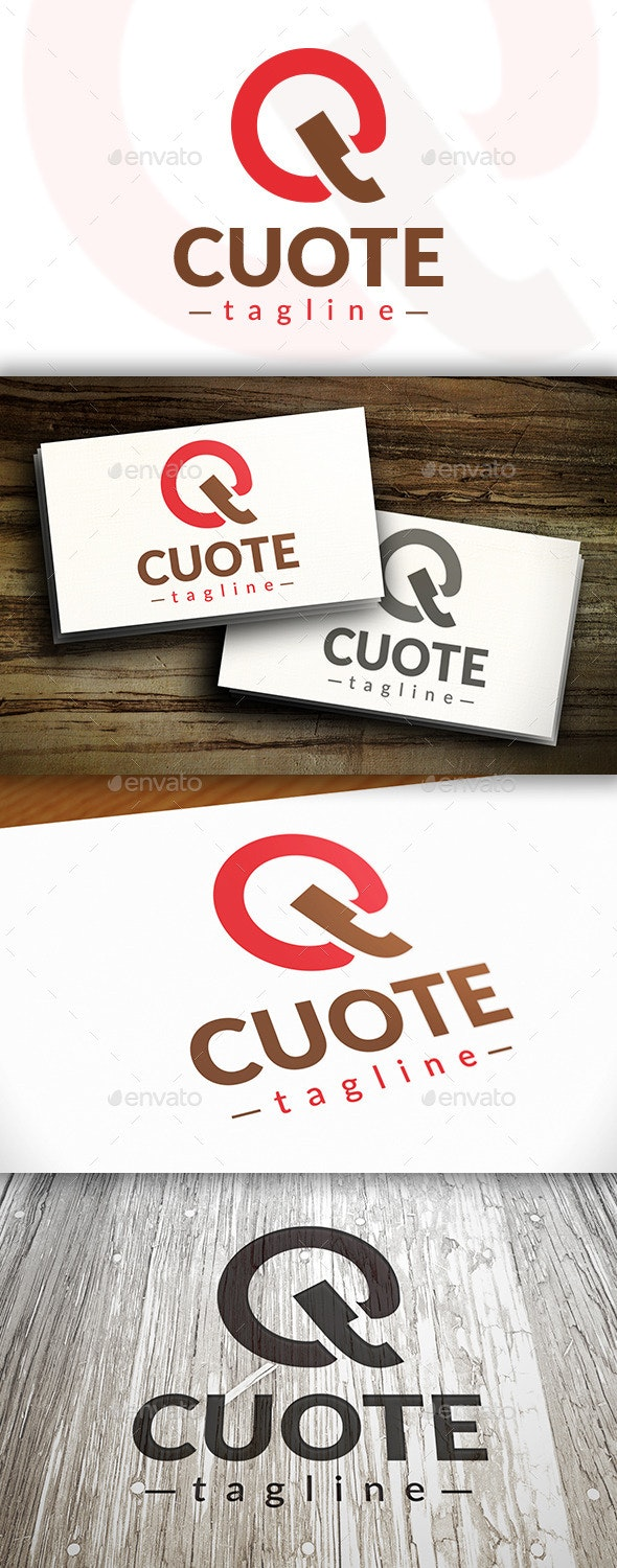 Quote Logo - Letters Logo Templates