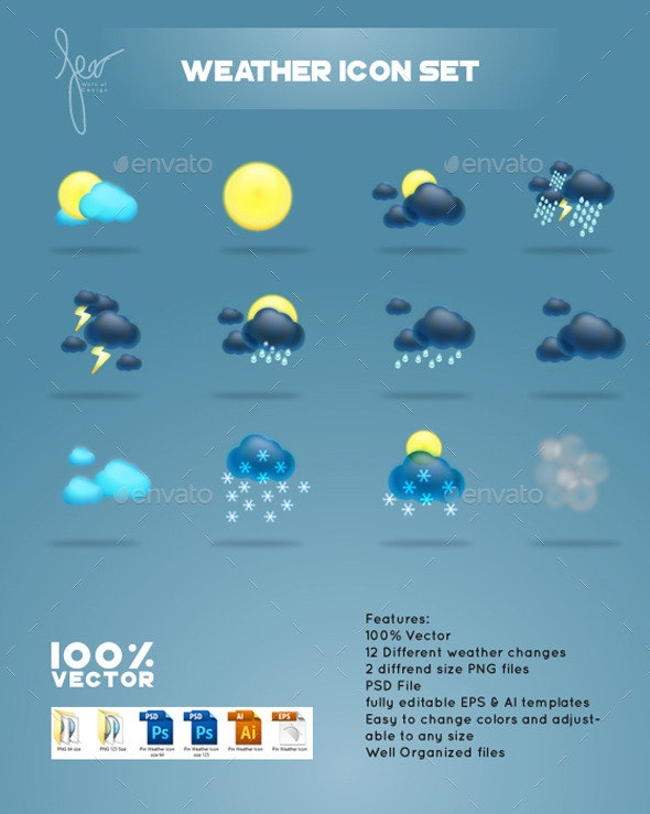 Vector Weather Icon Set - Icons