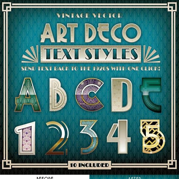 Art Deco Text Styles