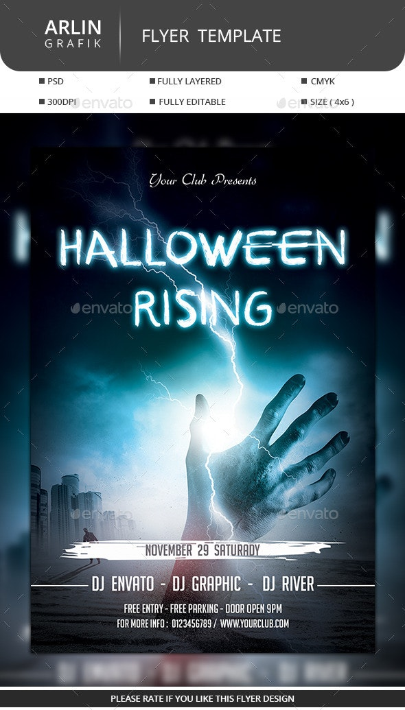 Halloween Flyer  Design - Clubs & Parties Events