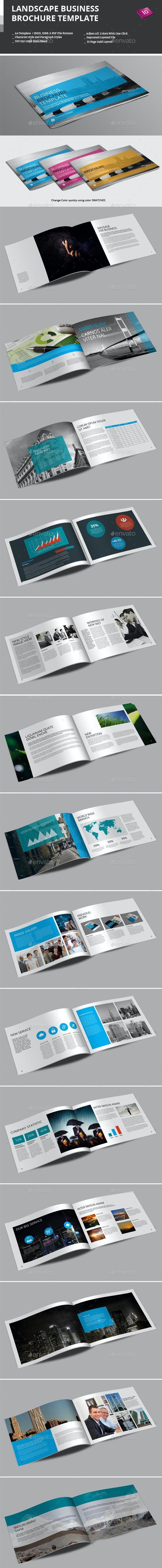 Landscape Business Brochure Template - Corporate Brochures