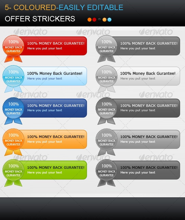 Resizible Offer Stickers - Miscellaneous Web Elements