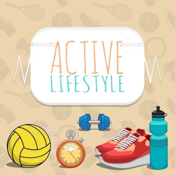 Active Healthy Lifestyle Background. - Backgrounds Decorative