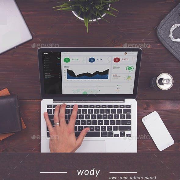 Wody - Web App Bootstrap Admin Template