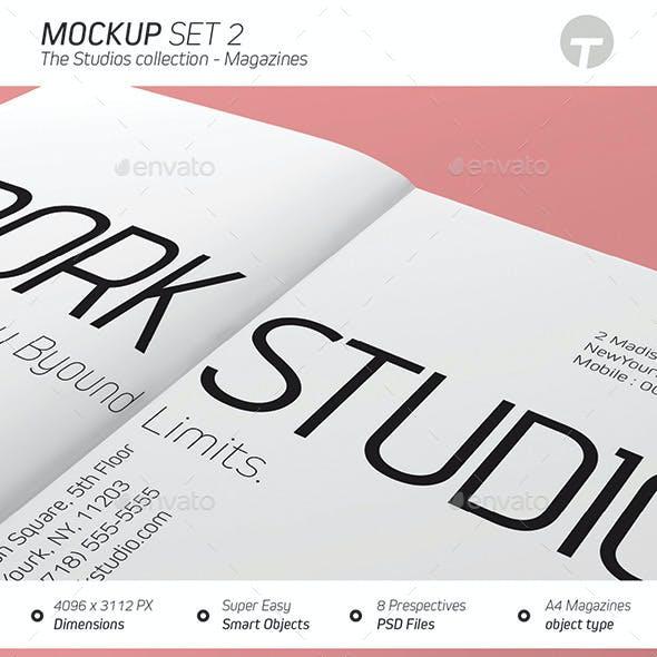 Magazine Mockup (Studios Collection) - Set 2