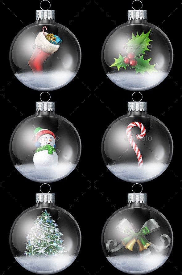 Christmas Snowglobe Collection - Miscellaneous Isolated Objects