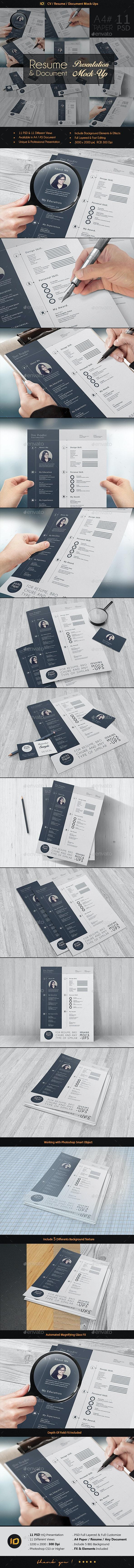 CV / Resume Mock-Up - Print Product Mock-Ups